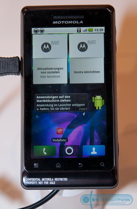 Motorola MILESTONE 2 - Motorola MILESTONE 2 & Defy spotted in the flesh during IFA