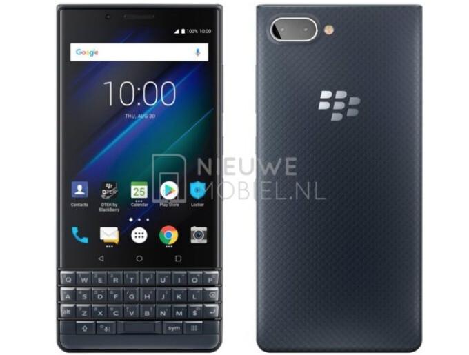 BlackBerry KEY2 LE looks stylish in a restrained blue hue in freshly leaked render