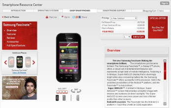 Verizon goes BOGO on the Fascinate, second handset is free on contract