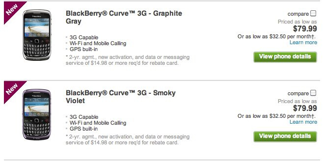 BlackBerry Curve 3G for T-Mobile is now ready for the taking