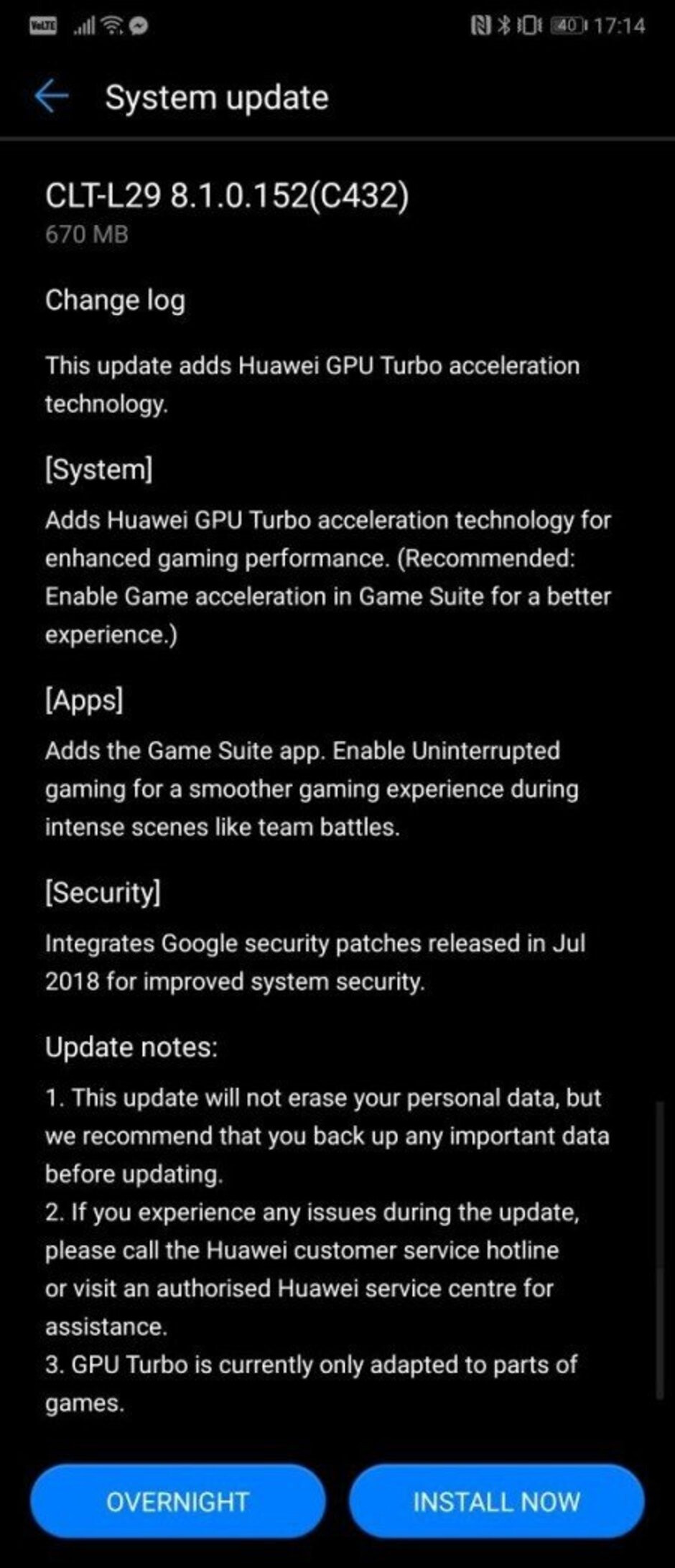 Huawei P20 Pro starts getting GPU Turbo update for enhanced gaming performance