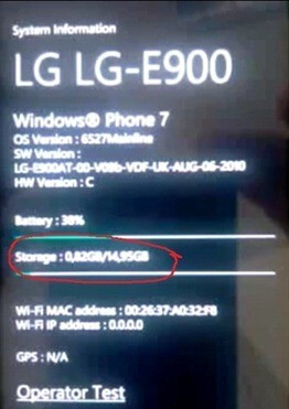 LG E900 with WP7 heading to Vodafone with 16GB memory onboard