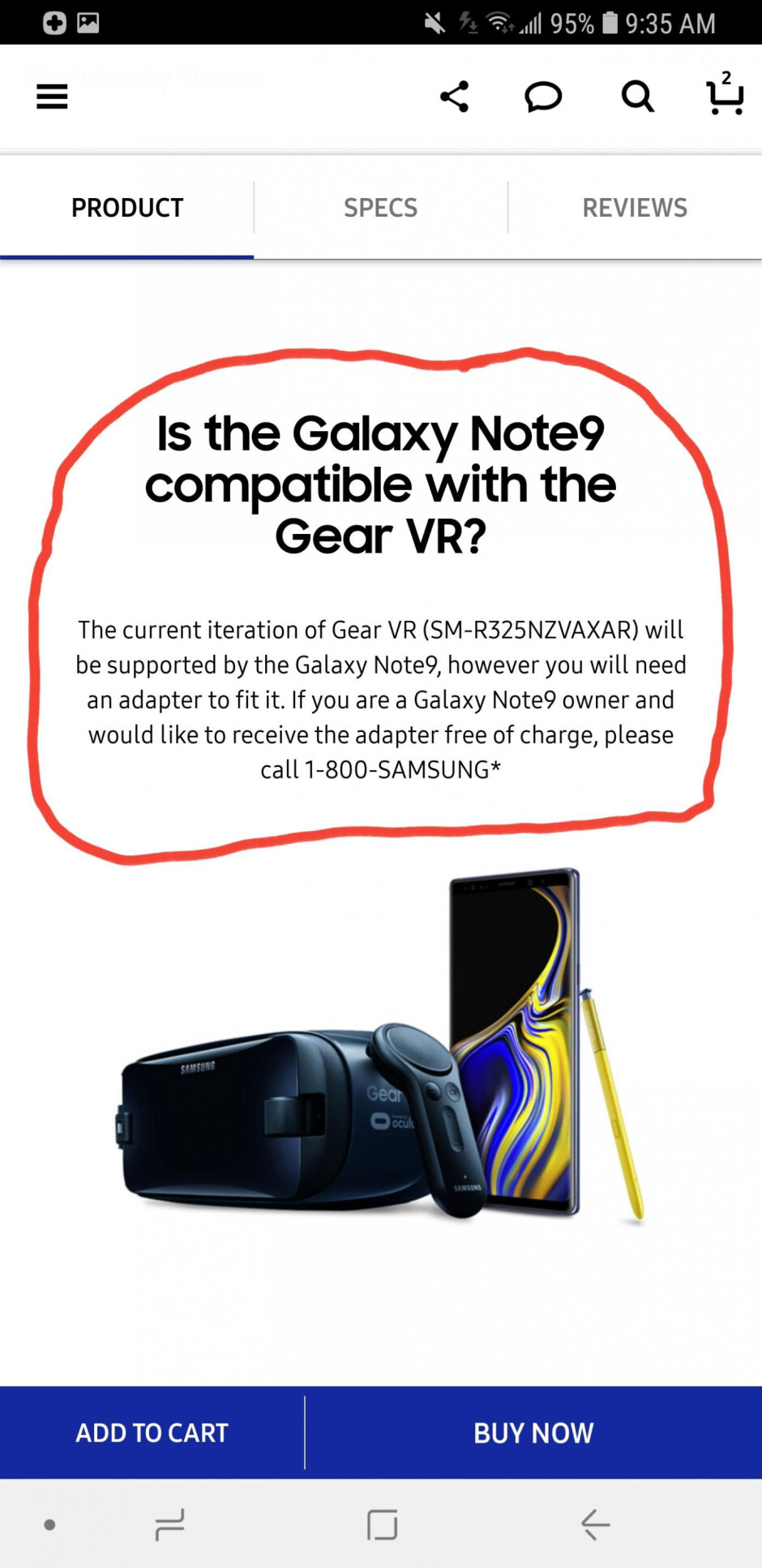 Samsung Galaxy Note 9 and the current Gear VR don't work together, but there's a workaround
