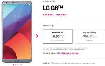 T-Mobile's LG G6 is now almost as cheap as the (inferior) LG Q7+