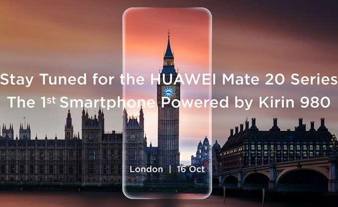 Huawei Mate 20 'series' announcement set for October 16 in London