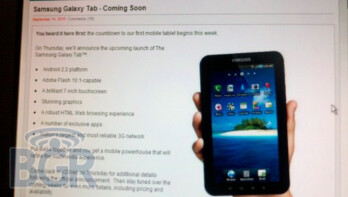 Galaxy Tab could be announced on Verizon as early as Thursday