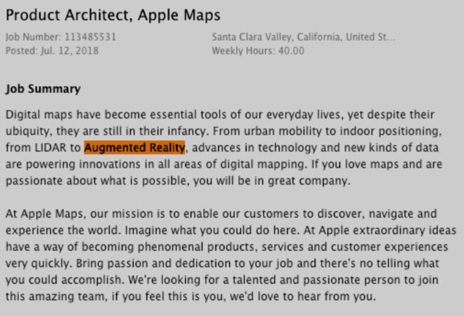 This Apple job posting seemingly hints that Apple is building an AR team for Apple Glasses - Job postings are the latest sign that Apple's AR glasses are coming