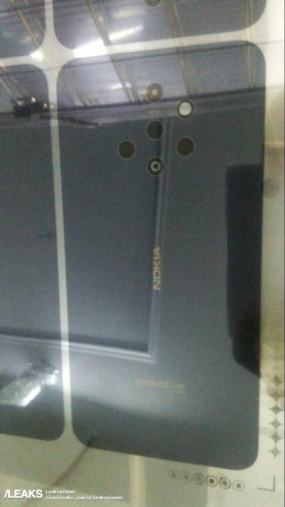 Possible Nokia 9 image leaks online revealing ridiculous camera setup