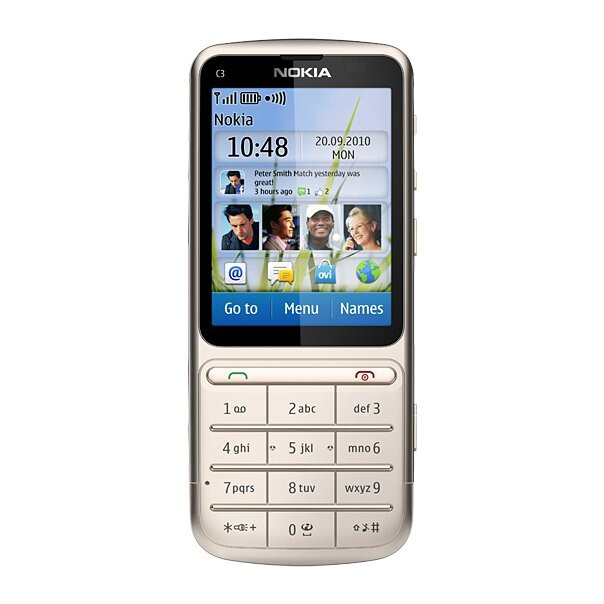 Nokia C3-01 Touch and Type - Nokia announces the Series 40-based C3-01 Touch and Type candybar phone