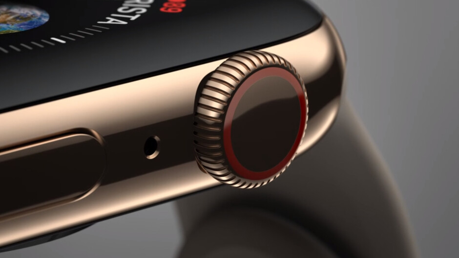 The Apple Watch Series 4 comes with a new digital crown with haptic feedback - Apple Watch Series 4 is official with bigger screen, faster processor, redesigned crown