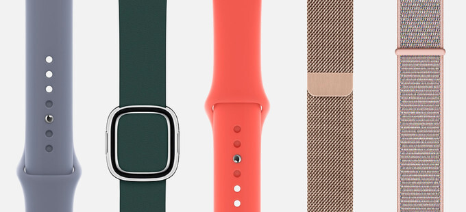 Some of the new Apple Watch wristband colors - Apple Watch Series 4 is official with bigger screen, faster processor, redesigned crown