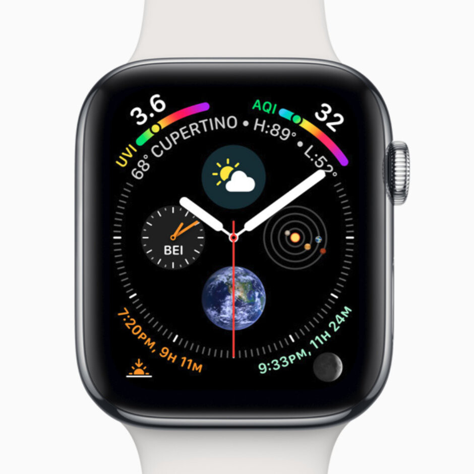 The new Infograph watchface with various complications - Apple Watch Series 4 vs Series 3 and Series 2: what's different, anyway?