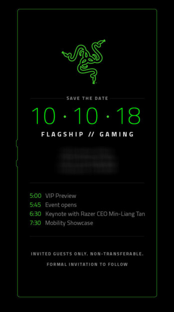The Razer Phone 2 will be unveiled on October 10th