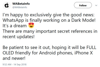 Dark Mode is reportedly coming to WhatsApp