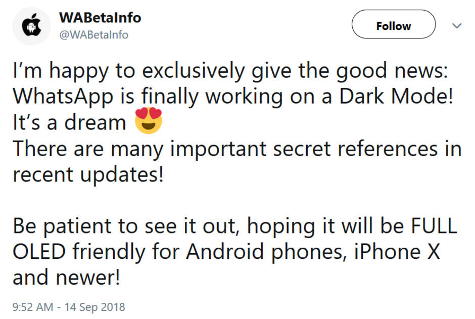 Dark Mode is reportedly coming to WhatsApp - Dark Mode coming soon to WhatsApp?