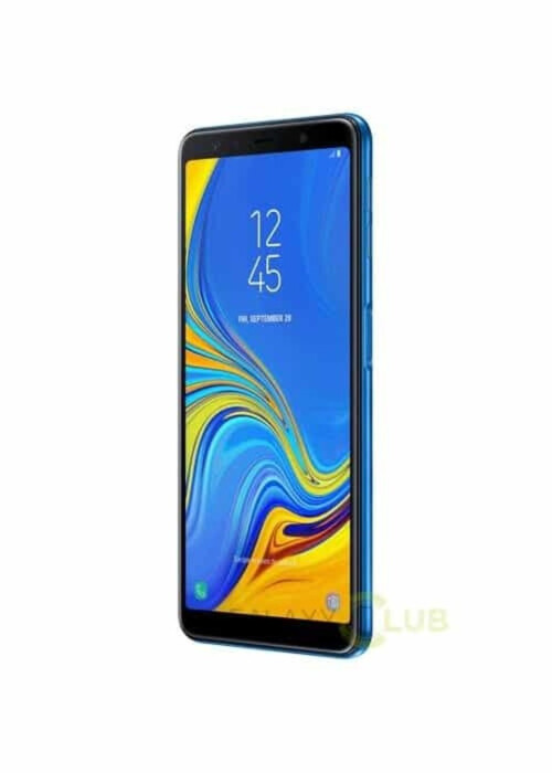 Samsung Galaxy A7 (2018) in blue and black