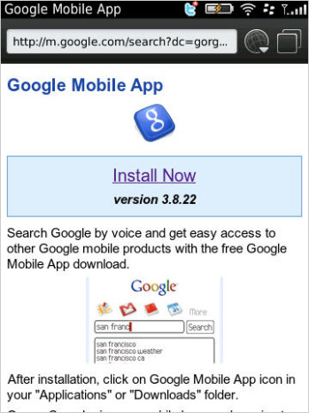 Version 3.8.22 of the Google Mobile App for BlackBerry is now available