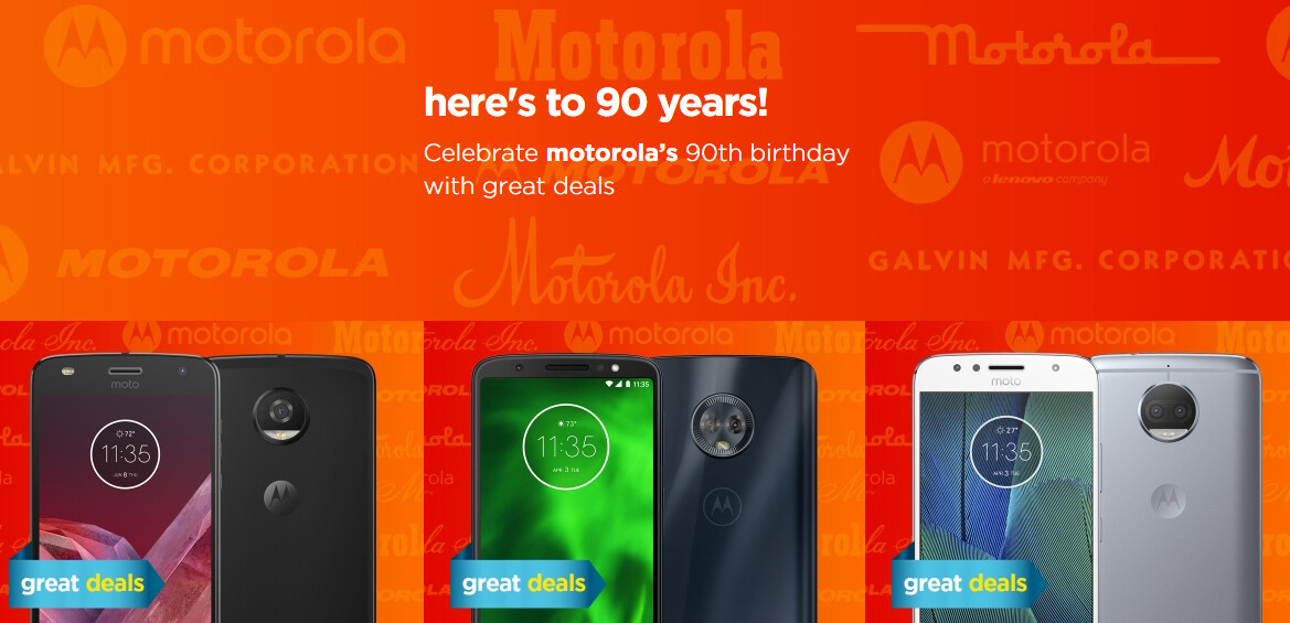 Moto G6, Z2, and other phones are discounted as Motorola