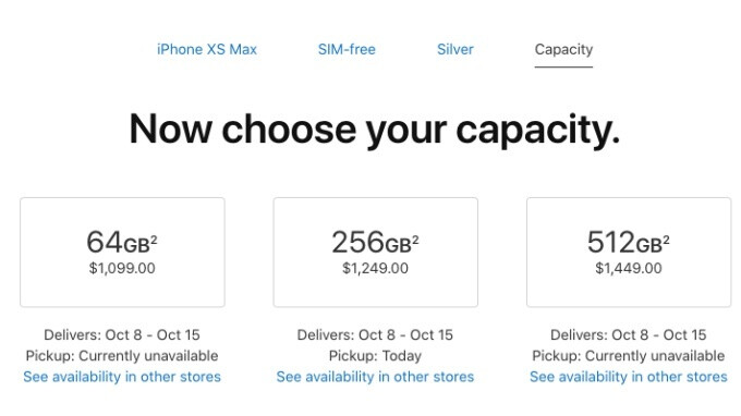 Apple is making insane amounts of money off iPhone XS and XS Max storage