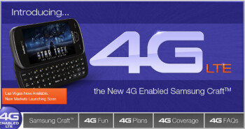 UPDATED: LTE-powered Samsung Craft now proudly advertised by MetroPCS