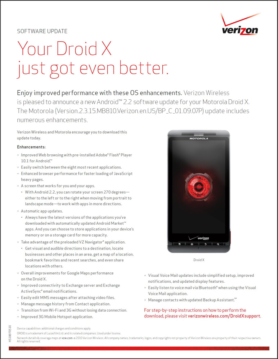 Android 2.2 update for the Motorola DROID X expected to arrive tomorrow?