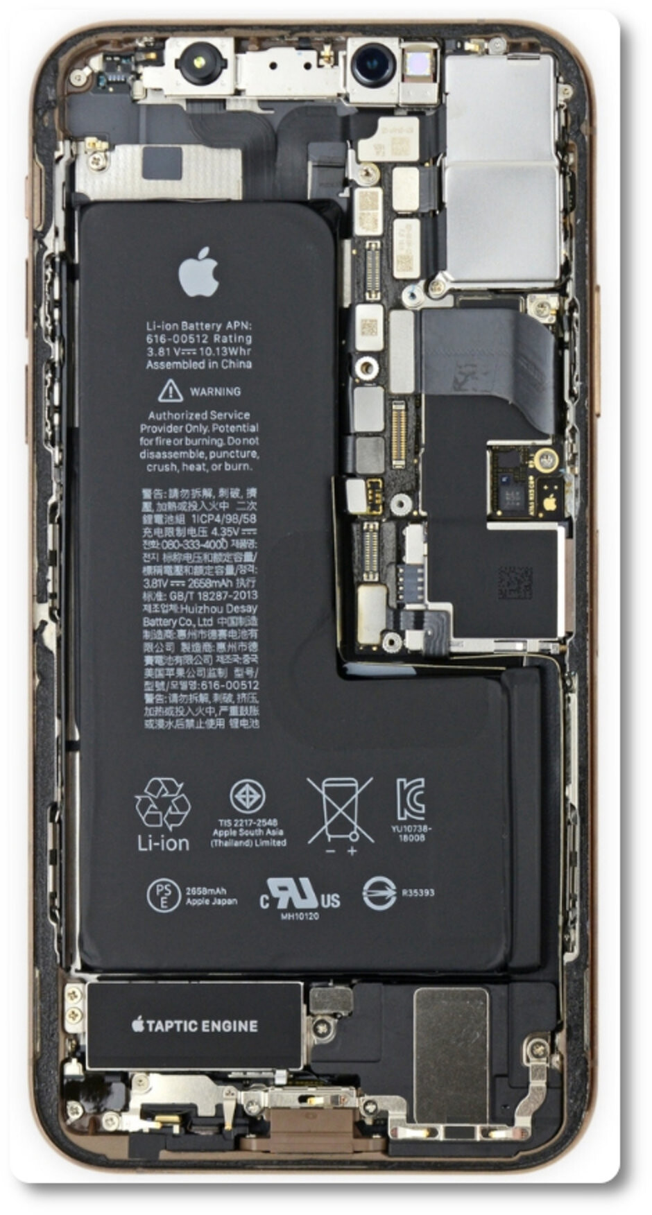 The XS has a unique single-cell L-shaped battery - The iPhone XS and Max do fine on the battery life test, but fall short of one Apple claim