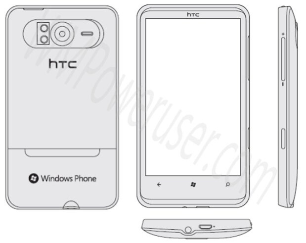 Sketches of the HTC HD7 get leaked