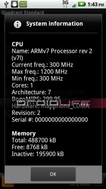 Motorola DROID 2 World Edition flies with a 1.2GHz processor