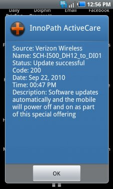 Verizon commences its Samsung Fascinate update roll out