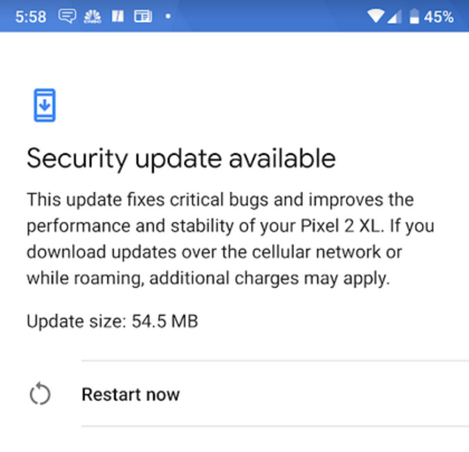 Pixel handsets started to receive the October Android security update today - Google rolls out the October Android security update for Pixel phones