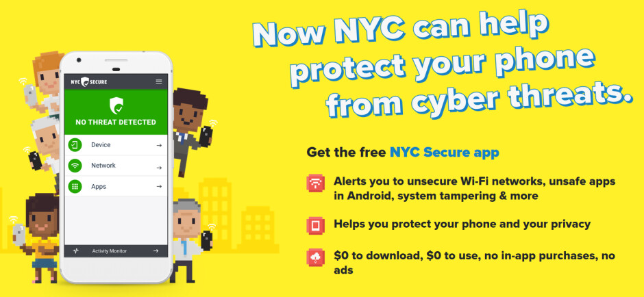 NYC Secure is free to install and use - New York City launches an app to defend against mobile security threats
