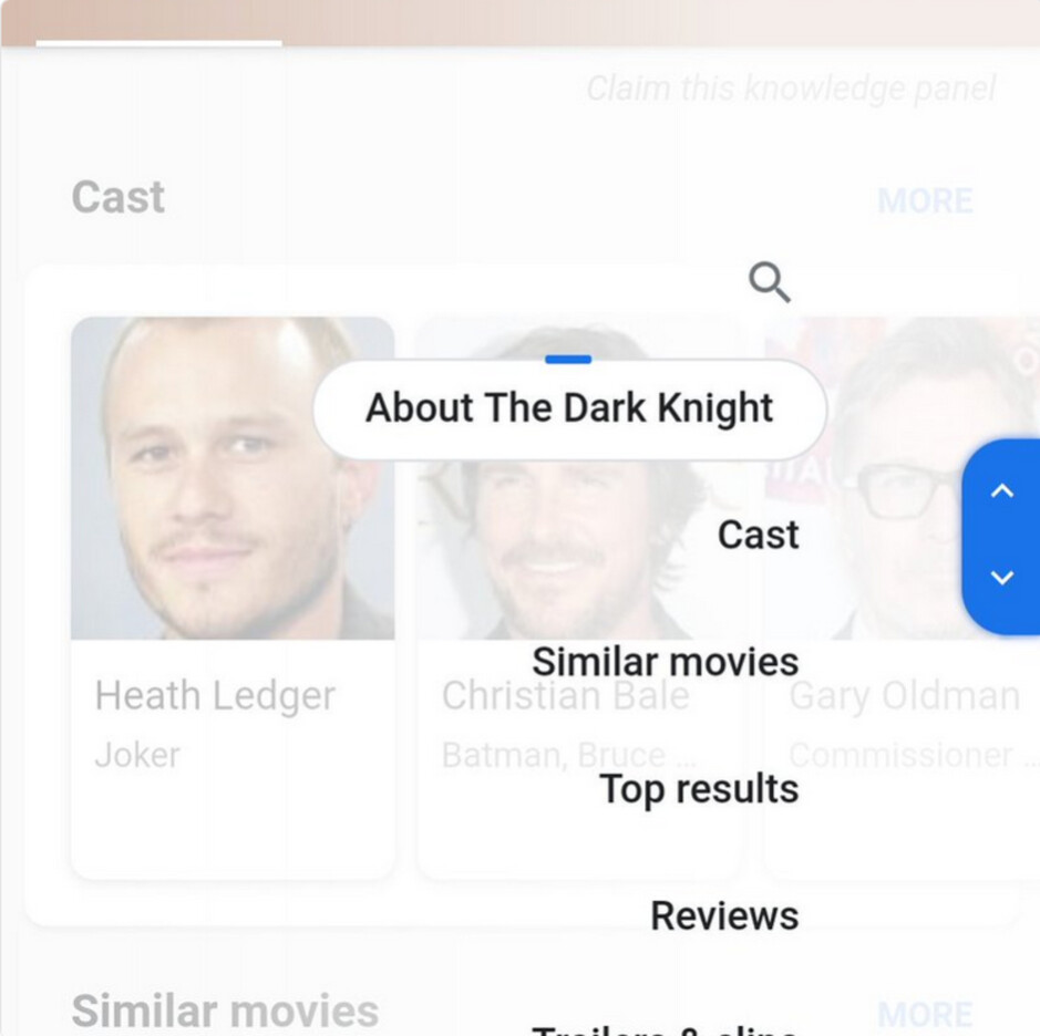 Google is testing a scrolling sub-topics overlay for mobile search results - Google tests overlay for mobile search that shows relevant sub-topics