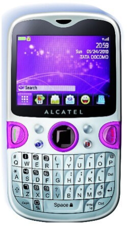 Yahoo phone created by Alcatel for Tata DOCOMO