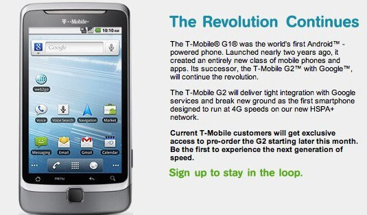 T-Mobile opens up the gate for all customers to get situated with a G2 pre-order