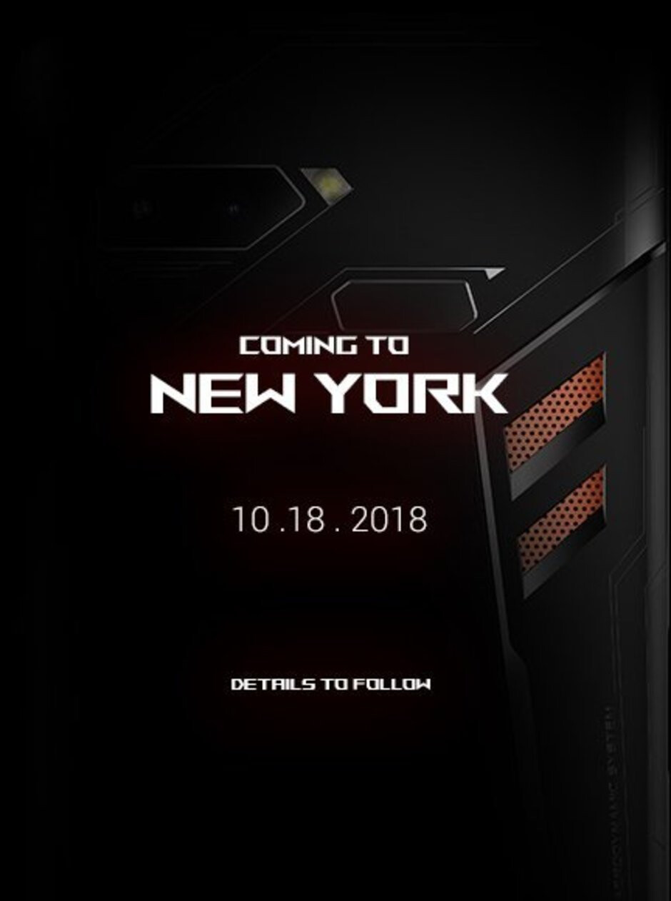 Asus ROG Phone set to make its US debut in New York on October 18