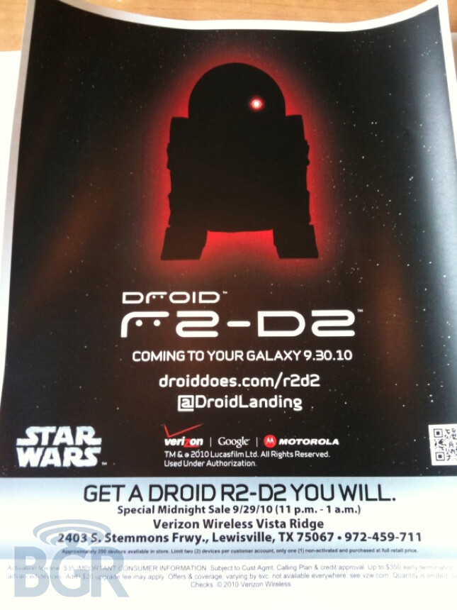 DROID 2 R2-D2 Special Edition gets the force of 1.2GHz behind it?