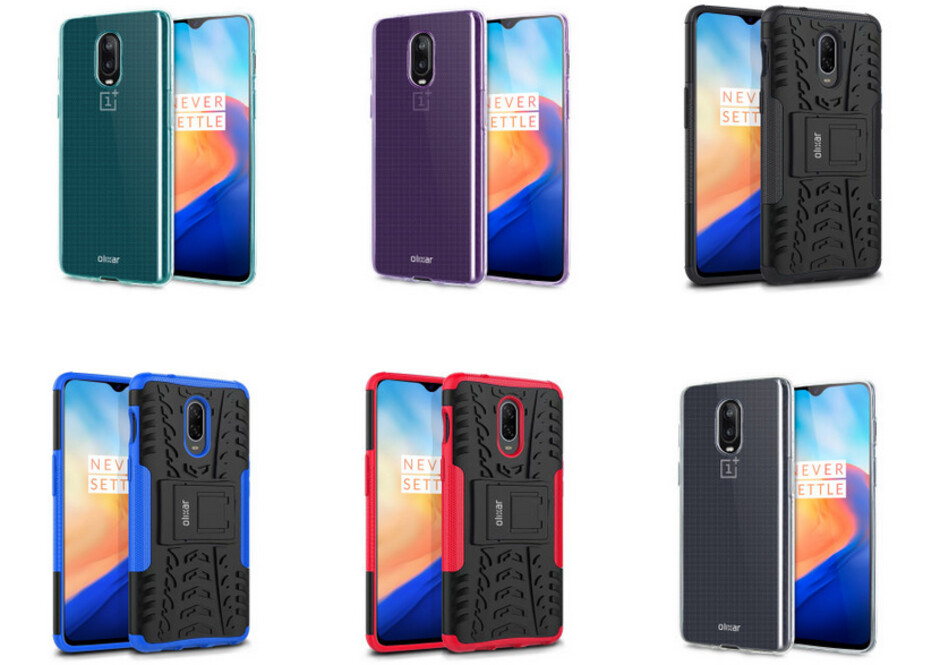 Olixar cases for the OnePlus 6T appear online - OnePlus 6T renders show phone nestled inside various cases