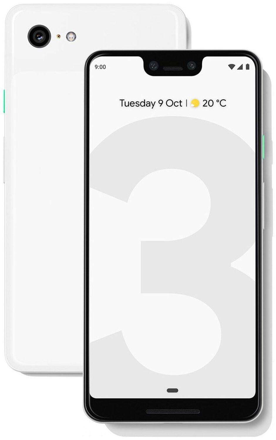 Official Pixel 3 XL press image leaks, flaunting minimalist stock wallpaper
