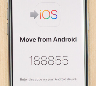 The code will be different each time you run the app - How to transfer contacts, photos and data from Android to iPhone