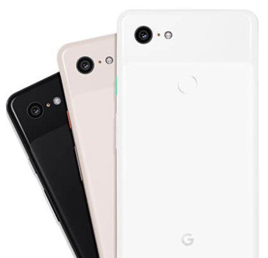 Latest Pixel 3 press render provides a closeup of all three colors (black, white, and pink)