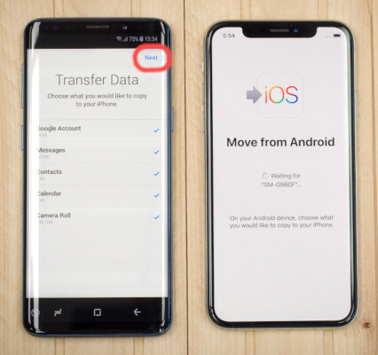 How to transfer contacts, photos and data from Android to iPhone
