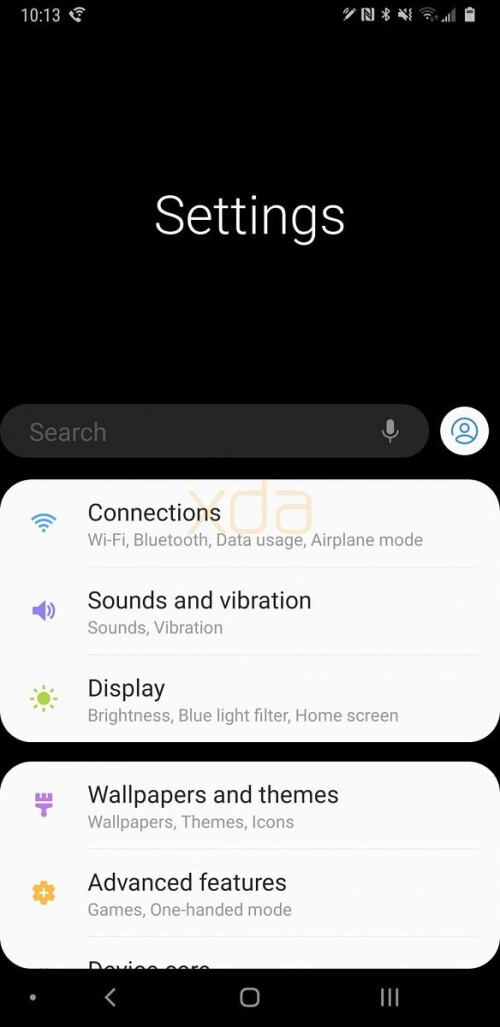 Android Pie-based Samsung Experience 10 UI for the Note 9