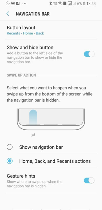 New Note 9 UI will have a gesture-only navigation option, too