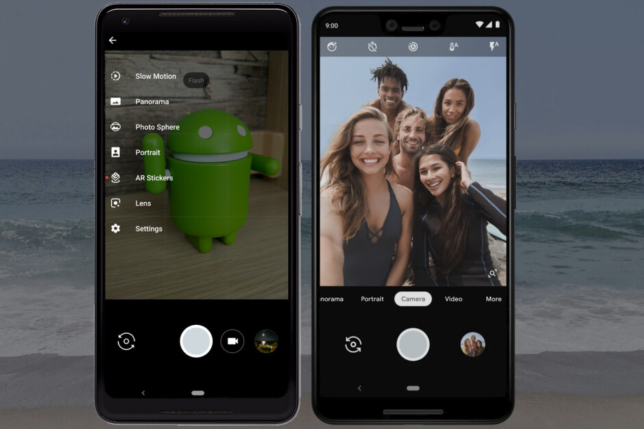The camera app on the Pixel 2 XL (left) and the camera app on the new Pixel 3 XL (right) - Google Pixel 3 and 3 XL cameras explained: epic photos, day and night