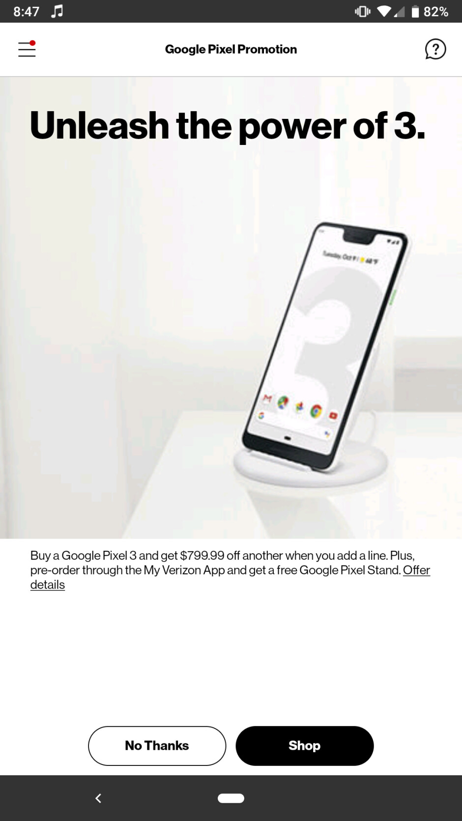 Get a free Pixel 3 from Verizon in a BOGO deal that adds the Pixel Stand charger as one-day offer