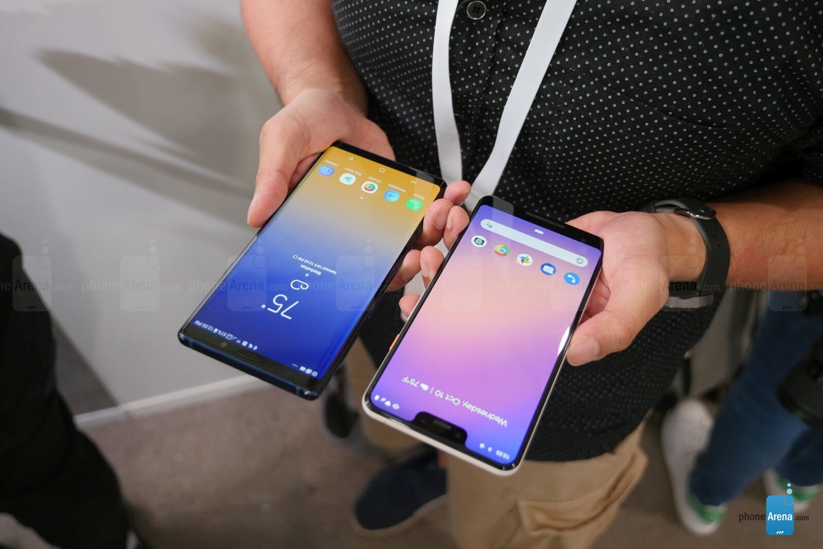 Google Pixel 3 XL vs Samsung Galaxy Note 9: first look