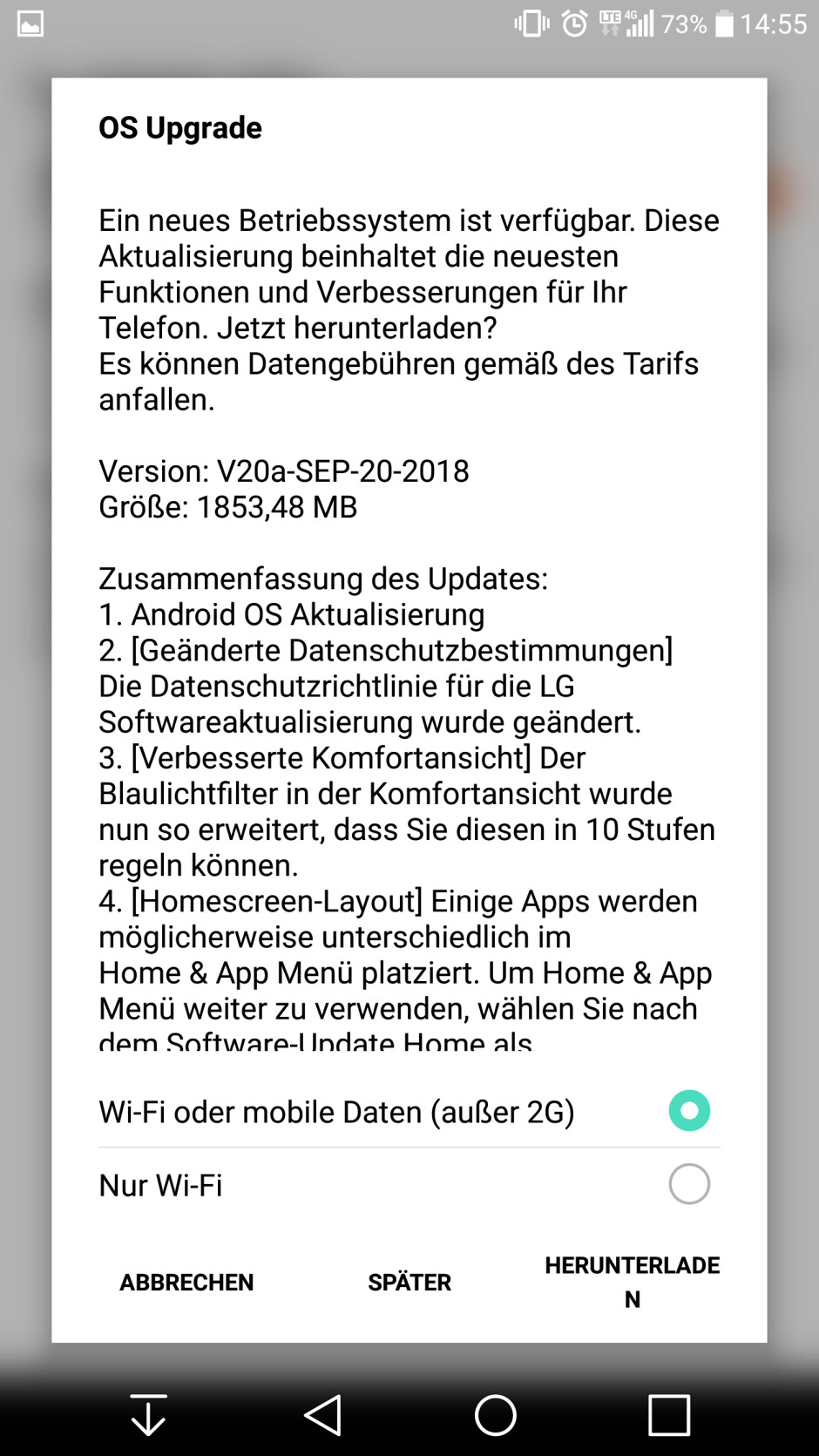 International LG V20 finally receiving Android 8.0 Oreo update