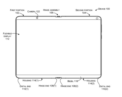 Microsoft files a patent for a foldable Surface Phone using one flexible screen instead of two inward folding panels
