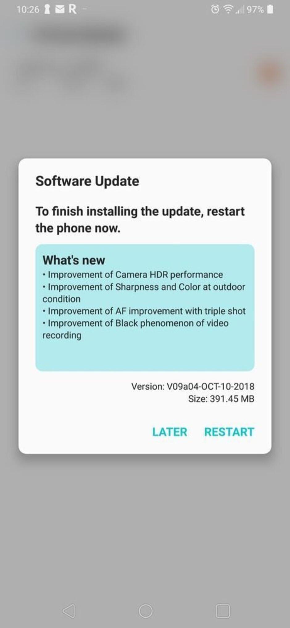 LG V40 update brings more camera improvements ahead of market release
