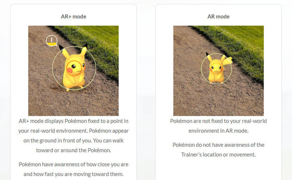 Pokemon GO AR+ mode now available on Android, but requires ARCore